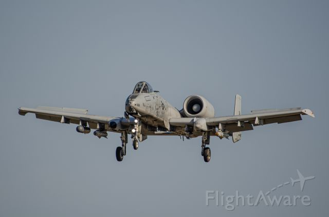 Fairchild-Republic Thunderbolt 2 — - Spoilers slightly deployed, this A-10 is on short final.