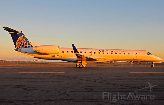 Embraer ERJ-145 (N12201) - Sunset taxi for UAX E145 to the midwest  mother hub