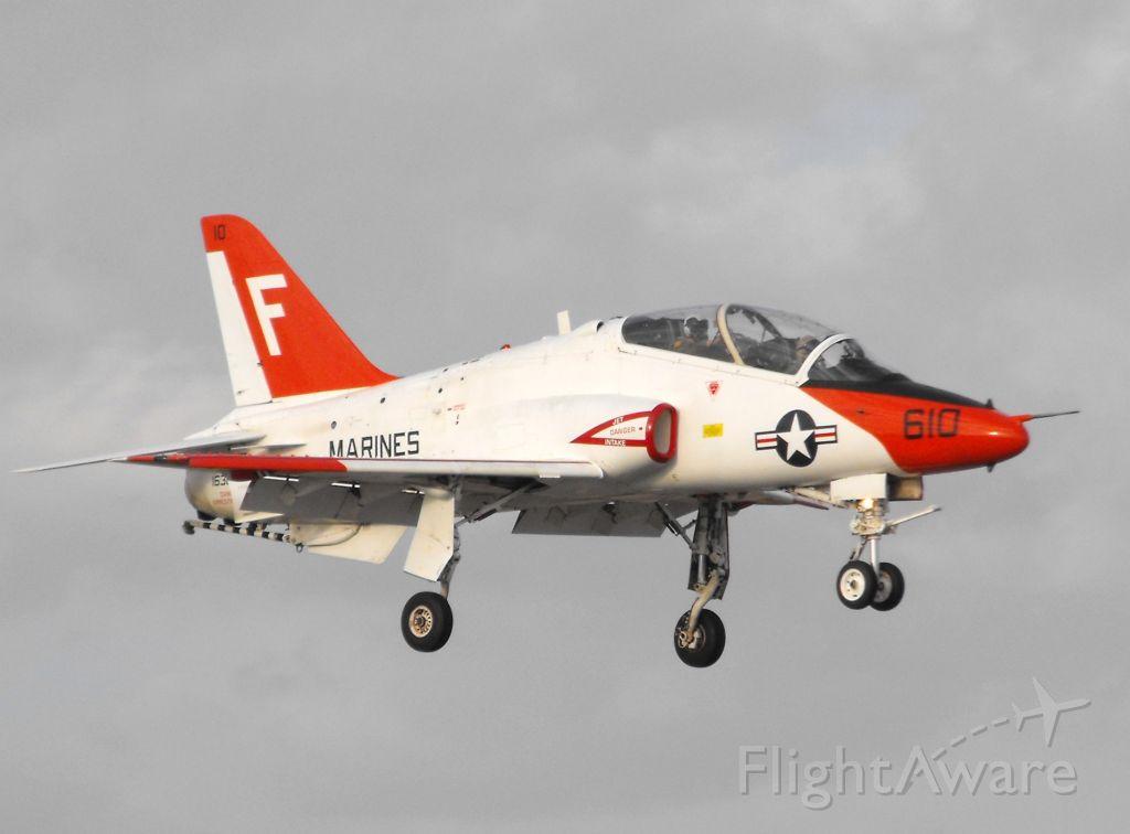 Boeing Goshawk (16-3649) - T-45C Goshawk over the numbers for RWY 18
