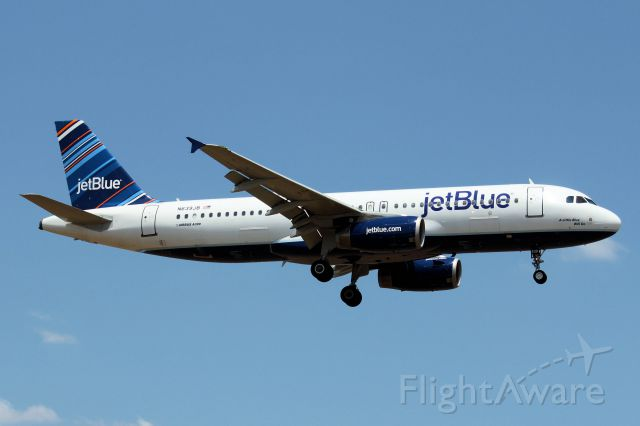 "Airbus A320 (N639JB) - ""A Little Blue Will Do"" * August 16, 2011"