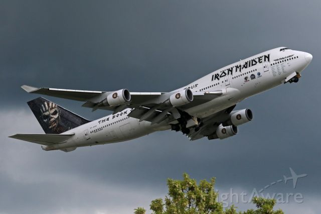 """Boeing 747-200 (TF-AAK) - """"Iron Maiden - Ed Force One"""" livery"""