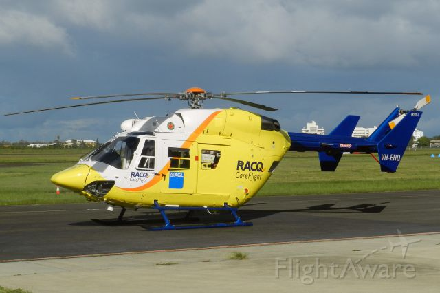 NUSANTARA NBK-117 (VH-EHQ) - RACQ Careflight MBB BK117C-1 at Sunshine Coast Airport Queensland 16 Jan 2014