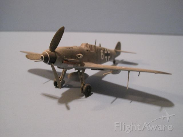 — — - Me-109G in 1/72 scale.