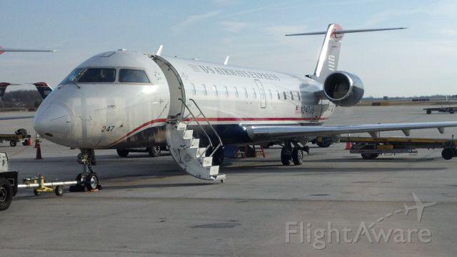 Learjet 35 (N247JS) - Waiting for boarding at KCLT...