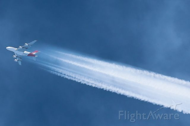 VH-OQI — - Qantas 93 is captured overflying YSSY at approximately FL400.