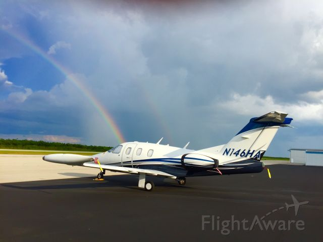 Eclipse 500 (N146HA) - Eclipse at the end of the rainbow.
