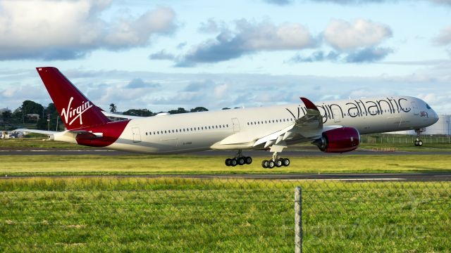 """Airbus A350-1000 (G-VRNB) - The first A350-1000 to visit Barbados! br /Also, Virgin's New A35K named """"Purple Rain""""!"""
