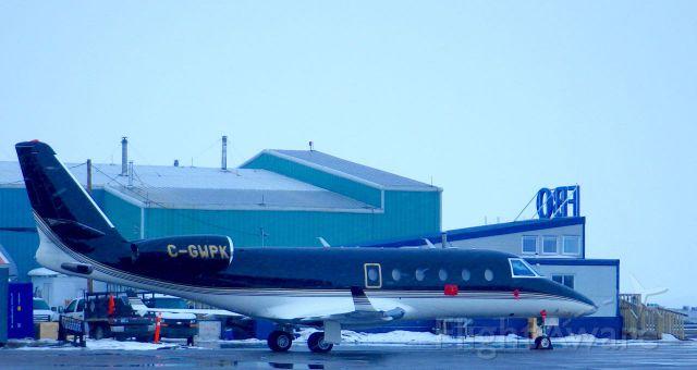 IAI Gulfstream G150 (C-GWPK) - Snowing on May 6th in Iqaluit, Nunavut