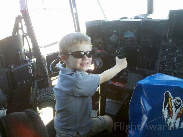 Lockheed C-130 Hercules — - Son at the controls of a AC-130 at Andrews Air Force Base (KADW) during the Joint Services Open House 2012.