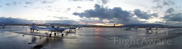 — — - Utah Valley University Flight Line after a cold rain storm rolled through