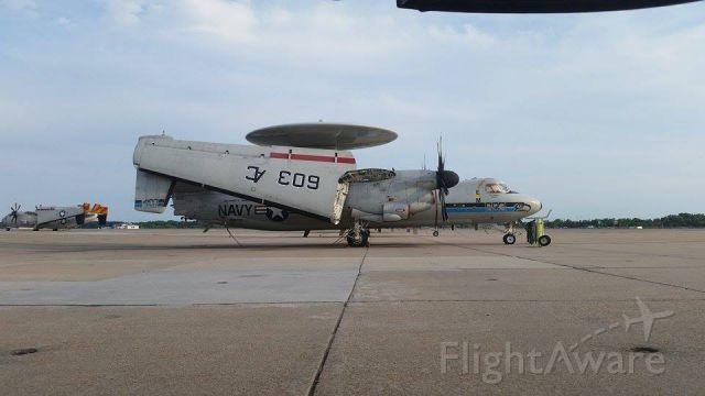 Grumman E-2 Hawkeye (16-4107) - Grumman E-2C C/N A52-139 Seahawks. C-2A Greyhound COD in the background