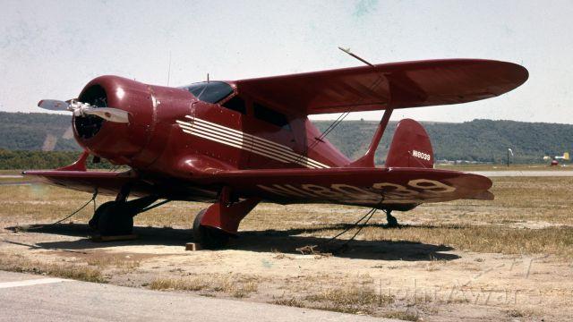 Beechcraft Bonanza (33) (N18039) - Beechcraft Model 1937 B17L Staggerwing.  (285HP L-5 Jake) Photo taken in 1960.