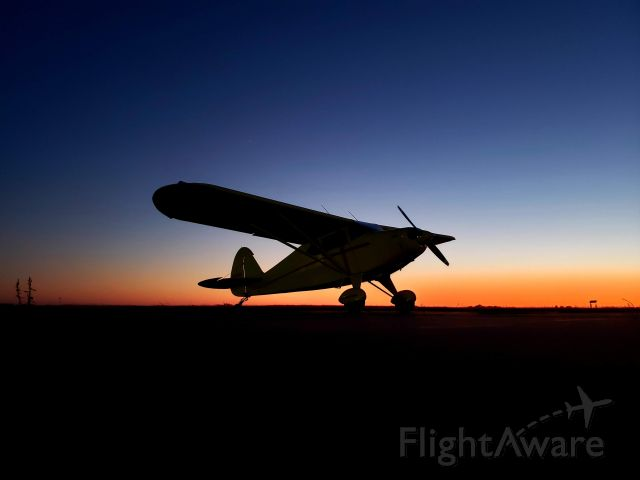 Piper PA-20 Pacer (N7413K) - The sunset behind the plane was so beautiful that I had to take a few pics.