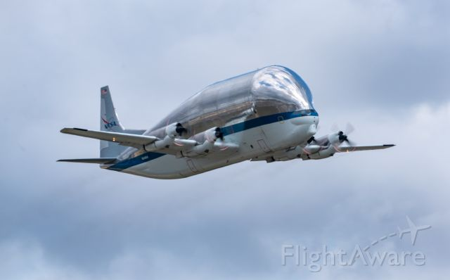 N941NA — - NASA's infamous Super Guppy takes off from runway 17R at KEFD for KLCH on 3/9/2021