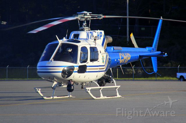 Eurocopter AS-350 AStar (N708HP) - KMRY - Mar 01, 2015 shows California Highway Patrol Coastal Air H-70 from Paso Robles area stopped at Monterey for a break.