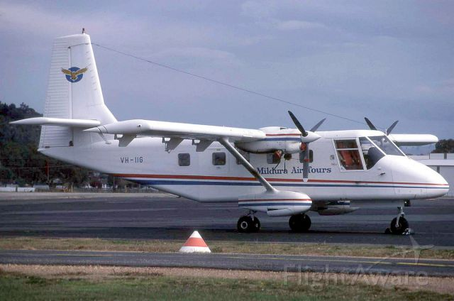 GAF Searchmaster (VH-IIG) - GAF Nomad N22 of Mildura Airtours. Photo taken in 1981.