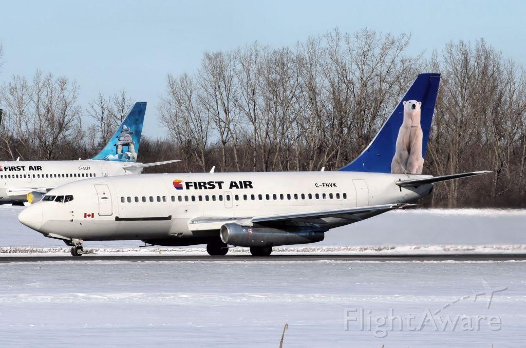 C-FNVK — - Departing on its regularly schedule  run to Iqaluit (CYFB), on 3-Jan-14.