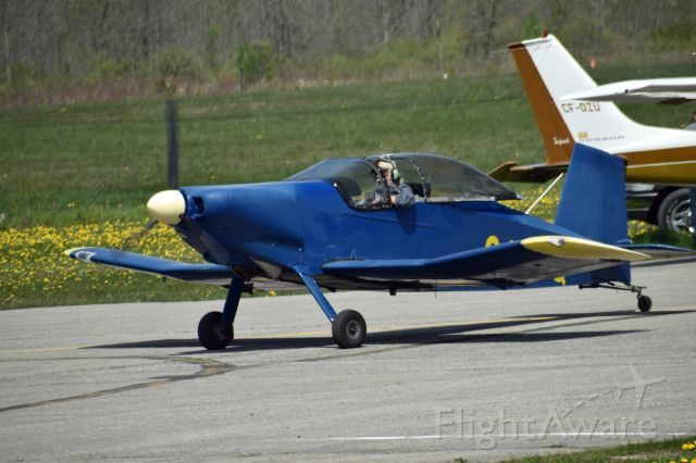THORP Tiger (C-FTNQ) - 2008 Thorp T-18 (C-FTNQ/357) taxiing to runway 31 at Kawartha Lakes Municipal Airport (CNF4) on May 18, 2021
