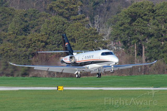 Cessna Citation Sovereign (N8JR) - Dale Earnhardt Jr's plane landing in Atlanta on Superbowl LIII weekend