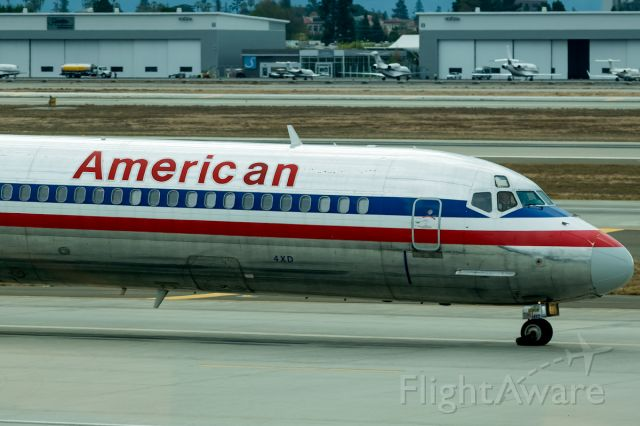 McDonnell Douglas MD-80 (N9617R) - Maddog getting ready to head out before the rain hit