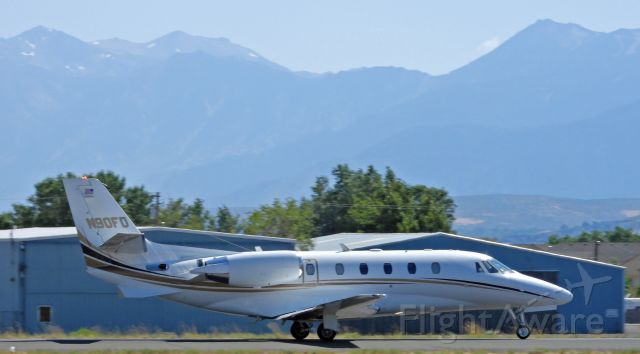 Cessna Citation Excel/XLS (N90FD) - Departing from 27 at Carson City