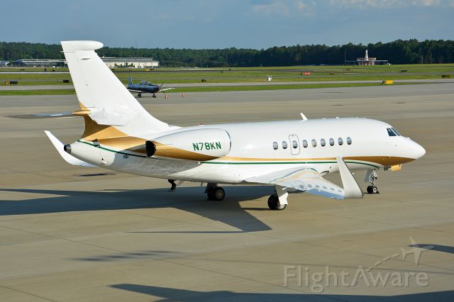 Dassault Falcon 2000 (N78KN) - Two days old replaced the Hawker 4000