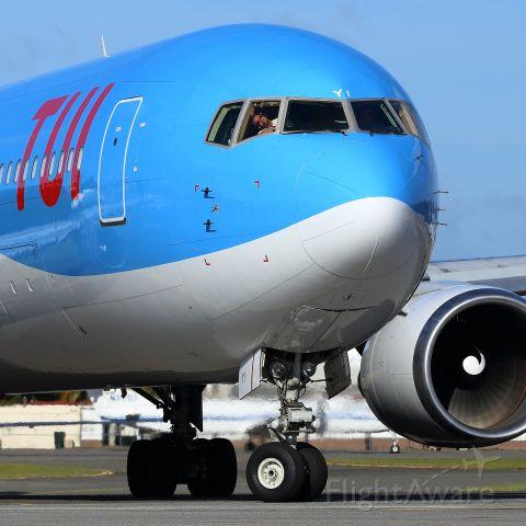 BOEING 767-300 (PH-OYI) - From Maho Beach.
