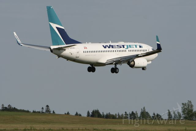 Boeing 737-700 (C-GCWJ) - July 4, 2010 - landed Charlottetown, PEI