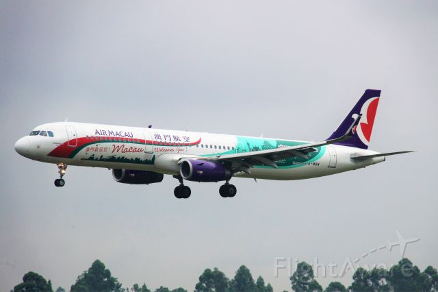 Airbus A321 (B-MBM) - Macau Welcomes You livery.<br />TIP: Select full-size and wait for a while for better view.