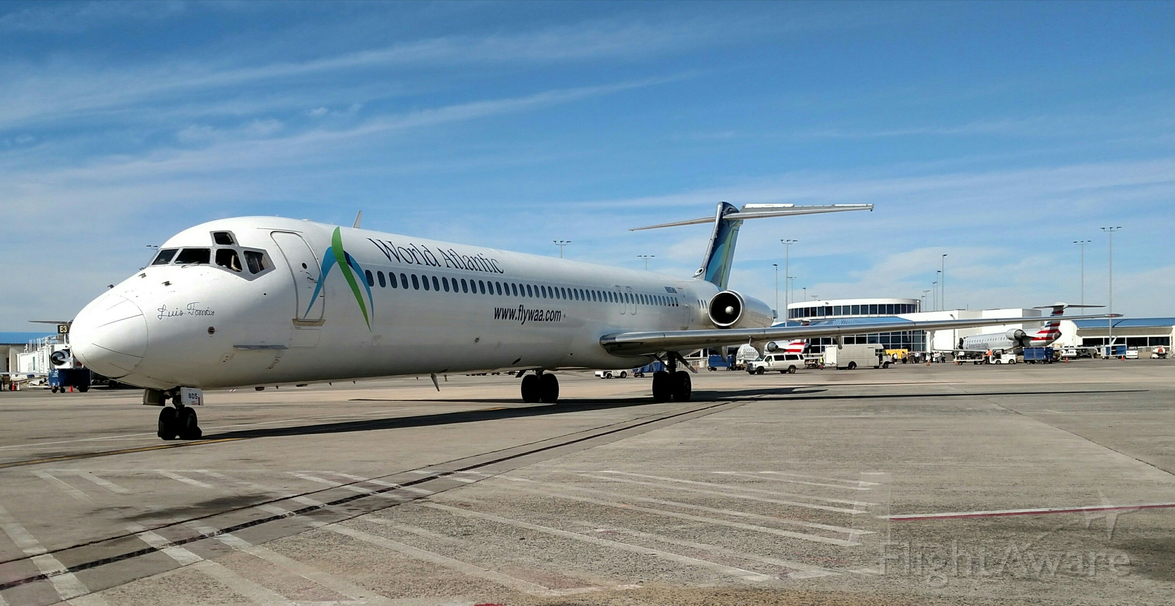 McDonnell Douglas MD-83 (N805WA) - Charter from Cancun