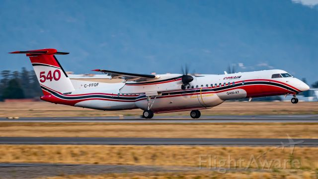 de Havilland Dash 8-400 (C-FFQF) - (AUGUST 2021) T540 picture at COE while fighting the Sherwood fire in Washington state.