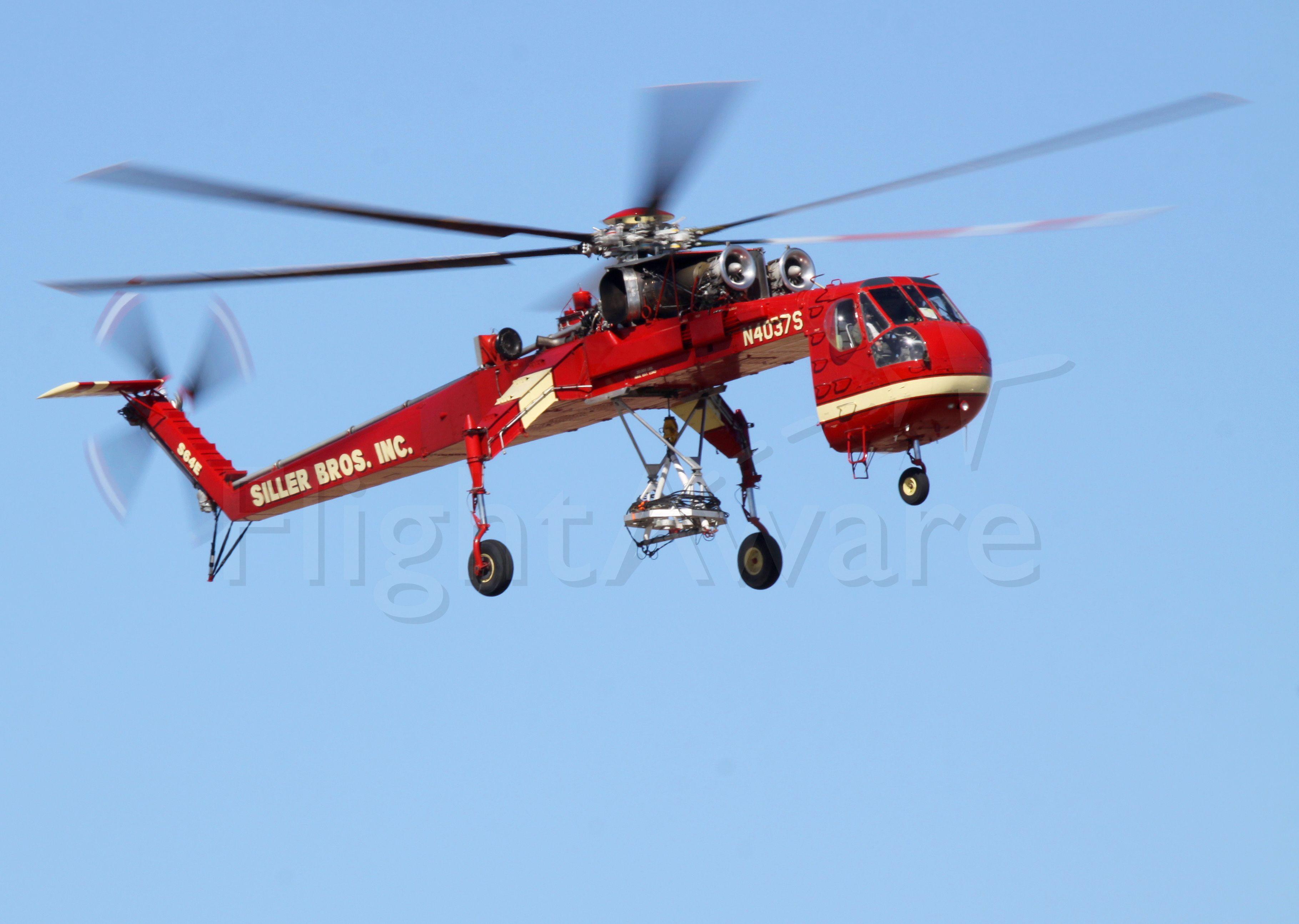 N4037S — - Sikorsky S-64E Skycrane 64-101 - N4037S, Siller Brothers at HOU
