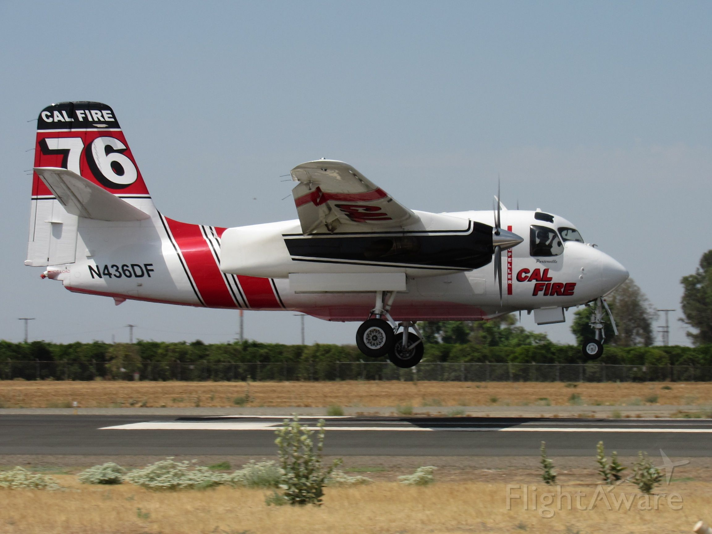 MARSH Turbo Tracker (N436DF) - N436DF landing right on the numbers at Porterville.
