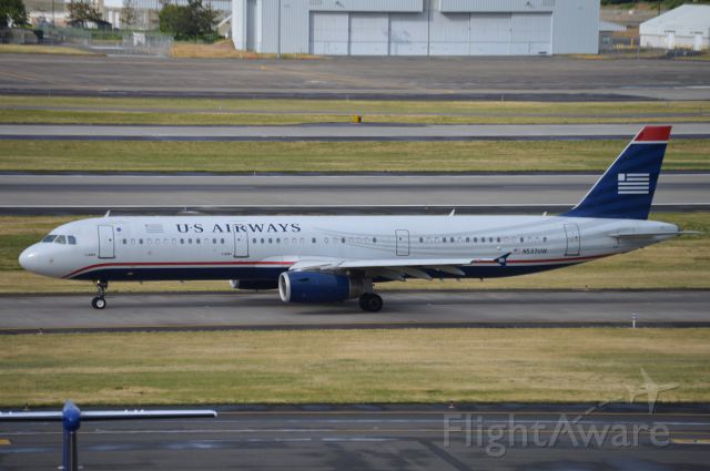 Airbus A321 (N537UW) - AAL895 taxiing for departure to KPHX/PHX. A rare sight in 2016 to see a US Airways livery considering that the merger has been completed and most of the fleet has been repainted!
