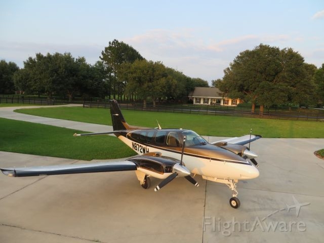Beechcraft Baron (58) (N872WH) - Beautiful evening at Covey Trails