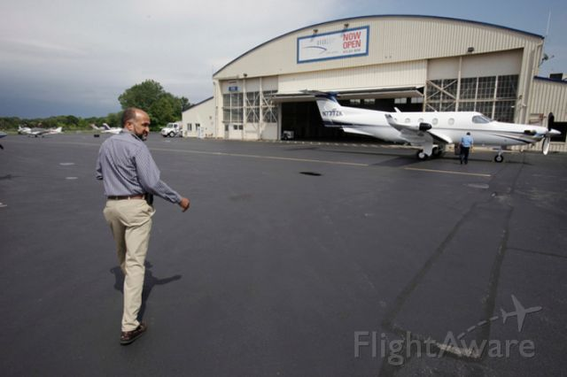 Pilatus PC-12 (N777ZK) - Tom Gomez; Essex County Airport Manager and retired Air Force.