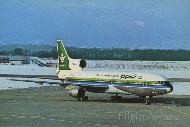 Lockheed L-1011 TriStar (HZ-AHI) - SCANNED FROM POSTCARDbr /SAUDI ARABIAN AIRLINES