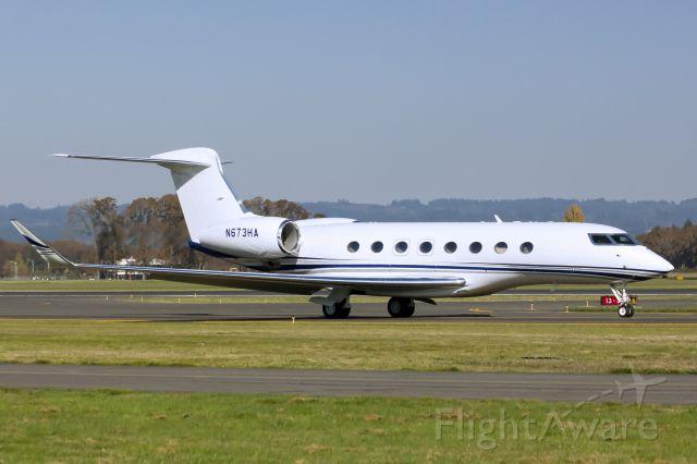 Gulfstream Aerospace Gulfstream G650 (N673HA) - Hillsboro based G650.  10-24-13