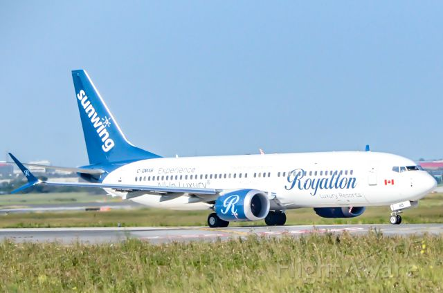 Boeing 737-700 (C-GMXB) - Here is the Sunwing Royalton Max taxi to Runway 23 for takeoff at CYYZ