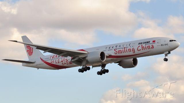 "BOEING 777-300ER (B-2035) - ""Smiling China"" livery."