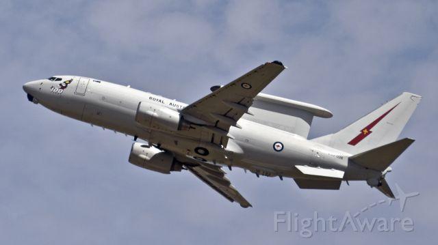 A30006 — - Royal Australian Air Force Boeing E-7A Wedgetail (737-7ES) departs RIAT RAF Fairford - 17th July 2017