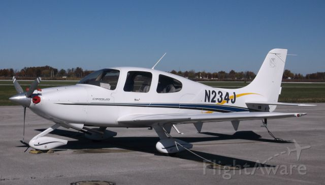 Cirrus SR-20 (N234J) - Parked on a sunny Sunday at Lorain County (Cleveland) OH
