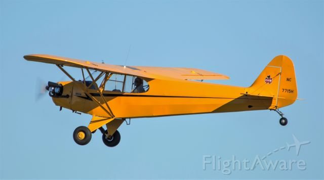 Piper NE Cub (N7715H) - Cub takeoff at PYM