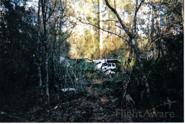Cessna P210 Pressurized Centurion (N210FW) - This is what happens when you fail to properly plan your flight.  Fuel exhaustion accident, February 15, 2001.  Somehow, we all survived this crash, at night, in IFR conditions, in the woods near Gulf Shores, AL.  Currently living on borrowed time...