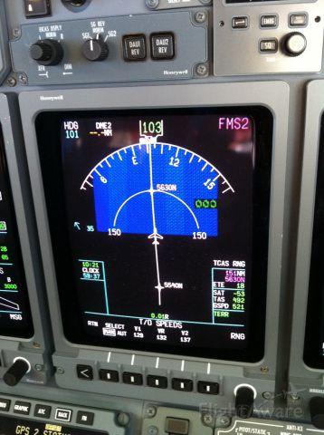 Cessna Citation X (FIV705) - Half way across the Atlantic for Scottland