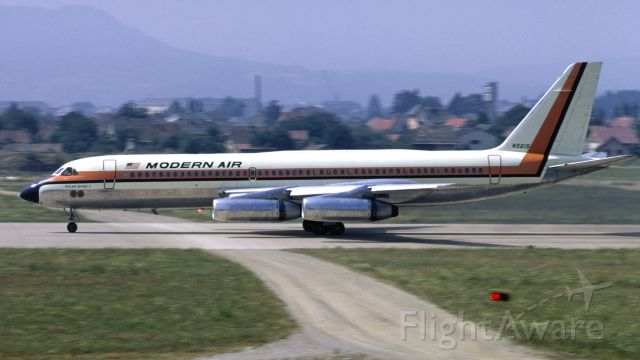 Beechcraft Bonanza (33) (N5615) - Modern AIr Convair CV-990A Coronado in August 1969 at Klagenfurt (LOWK)