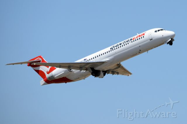 Boeing 717-200 (VH-YQV) - Getting airborne off runway 23.  Wednesday 29th October 2014.