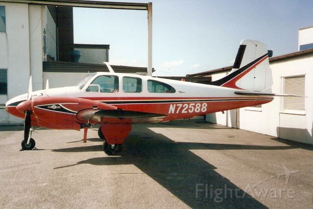 Beechcraft Travel Air (N72588) - Seen here in Jun-92.