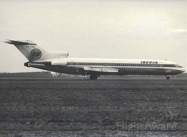 Boeing 727-100 (EC-CBH) - Iberia B727-256adv at Amsterdam Schiphol (jr1977) (Zwart Wit)