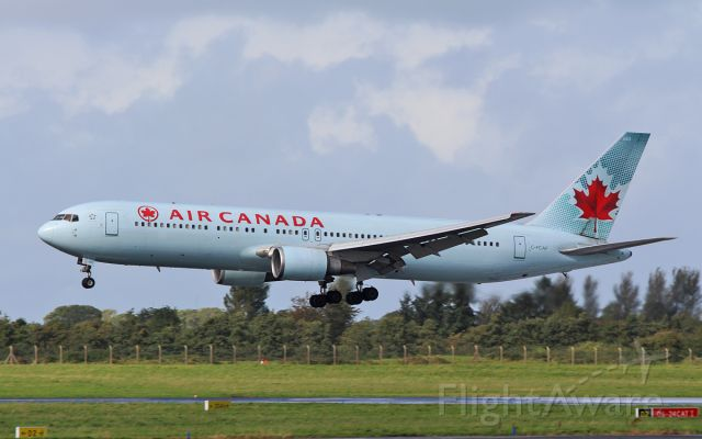 BOEING 767-300 (C-FCAF) - air canada b767-3 c-fcaf on a medical diversion to shannon while routing milan to toronto 29/9/16.